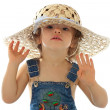 A girl is in a hat. — Stock Photo #1235974