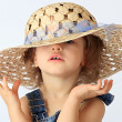 A girl is in a hat. — Stock Photo #1236025