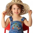 A girl is in a hat. — Stock Photo #1236061