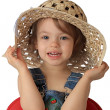 A girl is in a hat. — Stock Photo #1236083