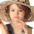 Stock Photo: Girl is in hat.