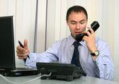 Hablar de negocios tenso. — Foto de Stock