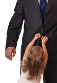 Businessman with little daughter. — Стоковое фото
