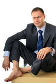 A businessman is in despair. — Stock Photo