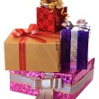 Festively cased gifts. — Stock Photo
