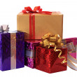Festively cased gifts. - Stock Photo