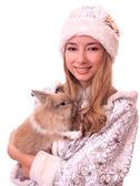 Snowmaiden z królika — Zdjęcie stockowe