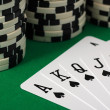 Best Poker Hand - Stock Photo