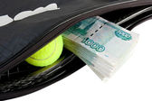 Tennis - expensive sport. — Stock Photo
