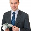 Businessman count cash. — Stock Photo #2549902