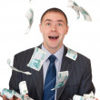 Money fell into the hands — Stock Photo #2549920