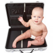 Child & suitcase — Stock Photo