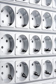 Multiple white outlet — Foto Stock