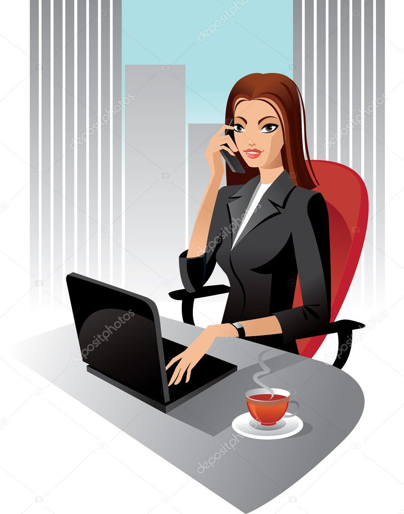 Office assistant clipart