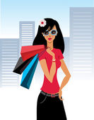 Shopaholic — Stock Vector