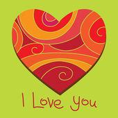 Valentine's heart — Stockvektor