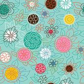 Nowoczesny wzór kwiatowy — Wektor stockowy