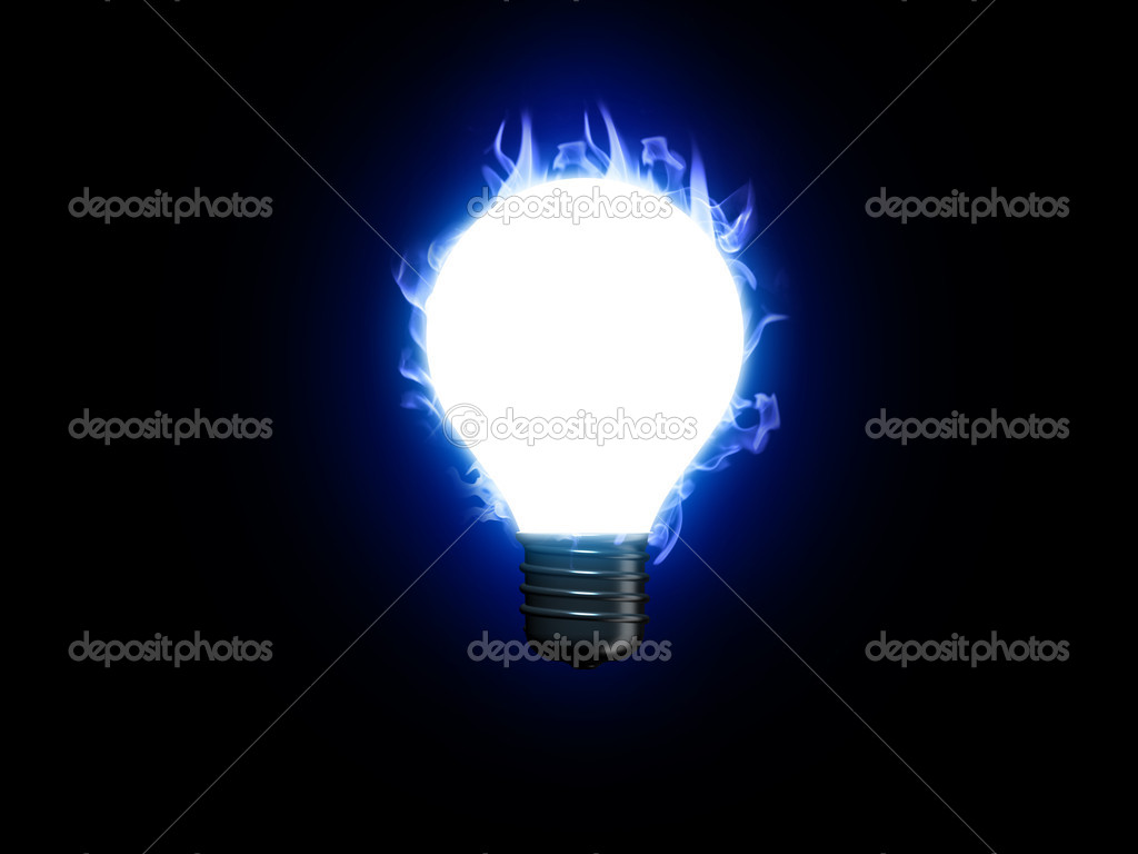 3d render of lightbulb   Stock Photo #1515758