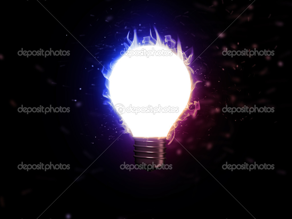 3d render of lightbulb  — Stock Photo #1515761