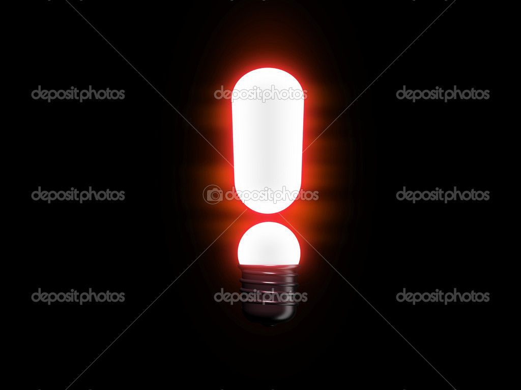 3d render of lightbulb  — Stock Photo #1515766