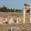 Stock Photo: Ruins on ancient romtown Hierapolis