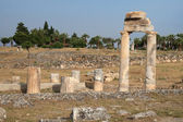 Ruins on ancient roman town Hierapolis — Stock Photo