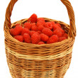Stock Photo: Raspberry in wicker basket