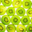 Green kiwi slices — Stock Photo