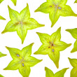 Starfruit (carambola) slices — Stock Photo #1237243