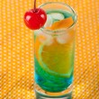 Alcohol cocktail with blue curacao and o — Stock Photo