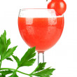 Stock Photo: Fresh tomato juice
