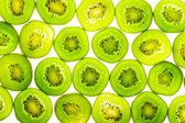Green kiwi slices — Stock Photo