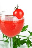 Fresh tomato juice — Stock Photo