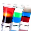 Shot cocktail collection — Stock Photo