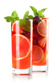 Cocktail collection: Refreshing sangria — Stock Photo