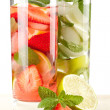 Strawberry and classic mojito — Stock Photo