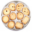 Danish Cookies in round box — Stock Photo