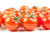 Fresh Cherry Tomatoes background — Stock Photo
