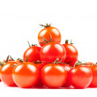 Pyramid of fresh cherry tomatoes — Stock Photo