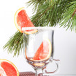 Grapefruit Mulled Wine (Punch) — Stock fotografie