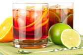 Negroni and cuba libre — Stock Photo