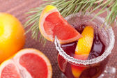 Grapefruit Mulled Wine (Punch) — Stok fotoğraf