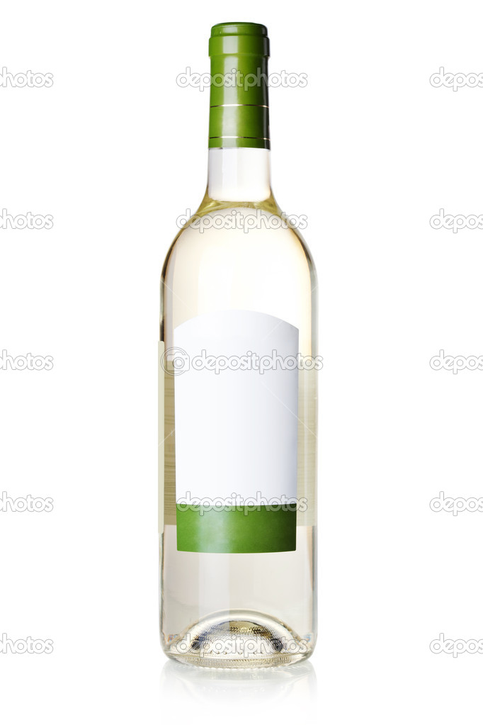 Blank White Wine Bottle Wine collection - white wine