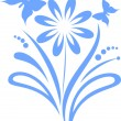 Royalty-Free Stock Imagen vectorial: Flower with the butterflies
