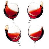 Různá vína šplouchá — Stock fotografie