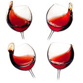 Various wine splashes — Stock Photo