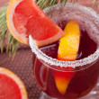Grapefruit Mulled Wine (Punch) — Foto Stock