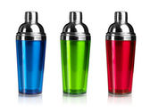 Three color shakers — Stock Photo