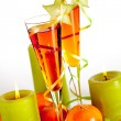Orange alcohol cocktails with mandarines — Stock Photo #2435358