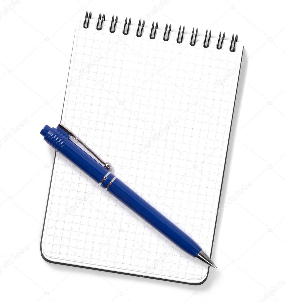 Blank Notepad With Pen Stock Photo 169 Karandaev 2459264